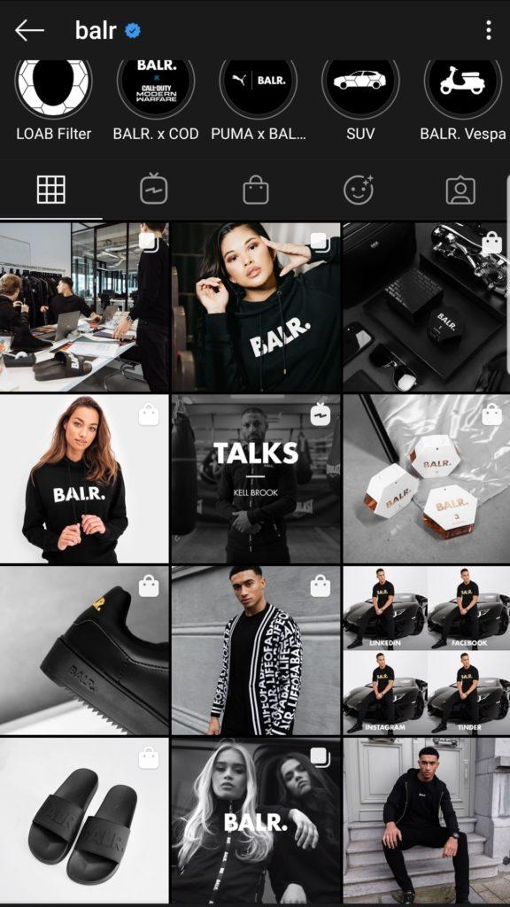 Instagram feed Balr