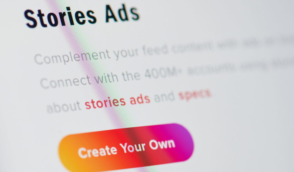 Creating instagram stories ads