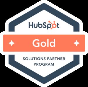 Hubspot Gold Partner badge Groningen